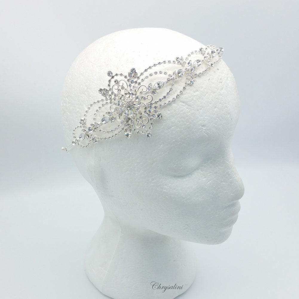Diamonte Headband Clear/Silver