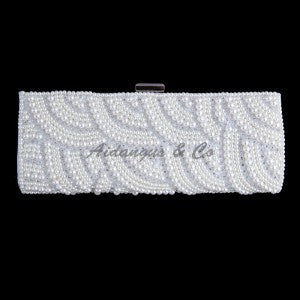 Long Pearly Crystal Clutch