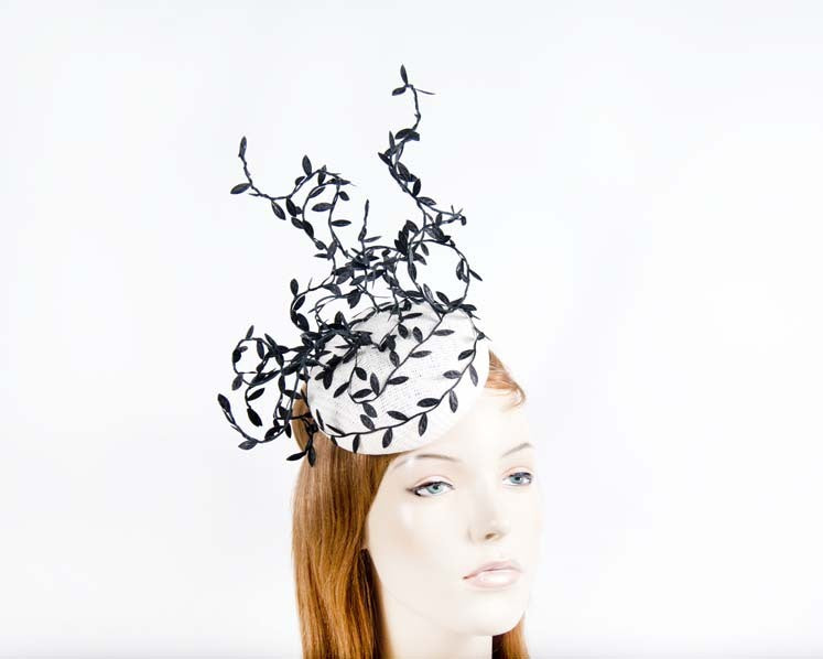 Fillies Collection Fascinator S173 White/Black