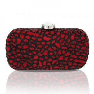 Red Furry Clutch