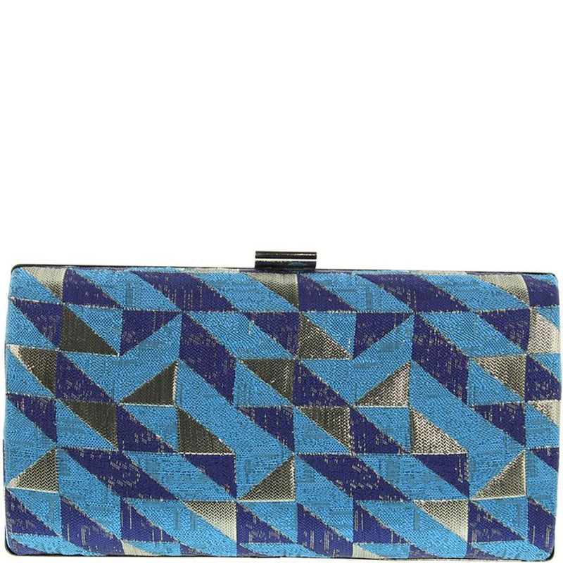 Paulina Geo Box Clutch