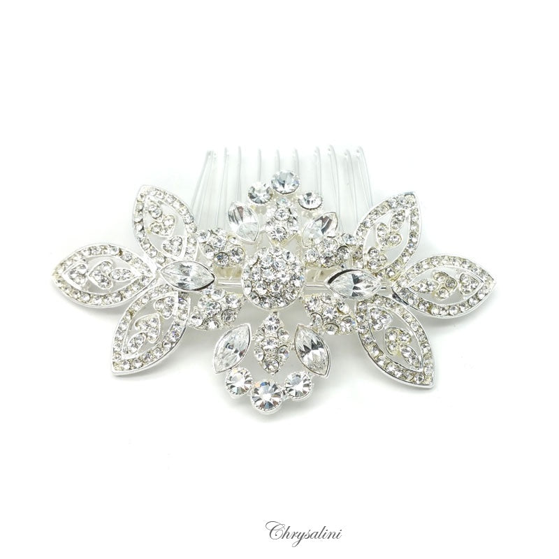 Diamonte Hair Comb Silver