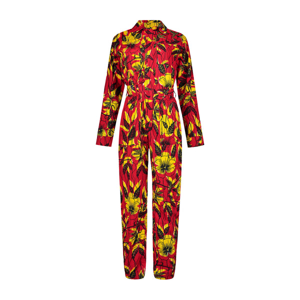 Women's Tracking Suit - Hibiscus
