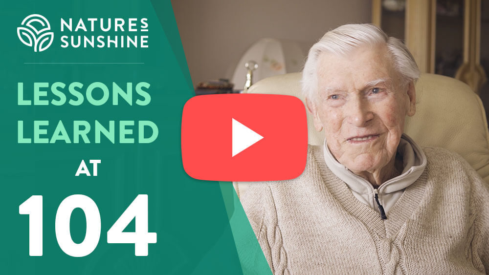 video interview with Wallace Edwards on lessons learned at 104 years of age