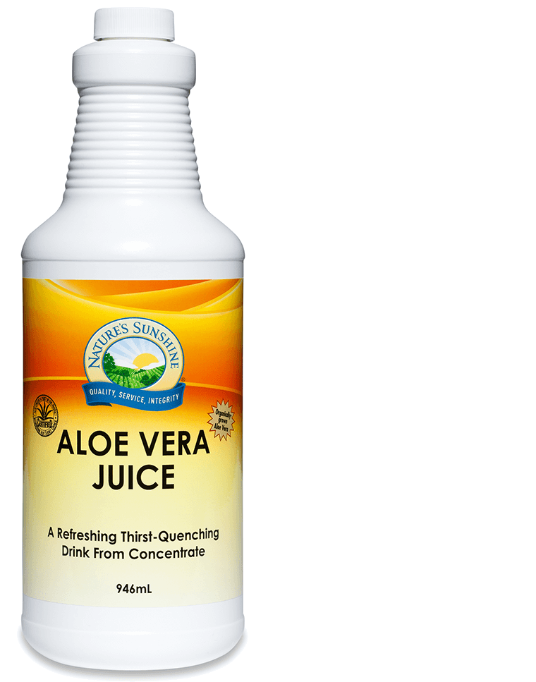 bottle of Nature's Sunshine Aloe Vera Juice