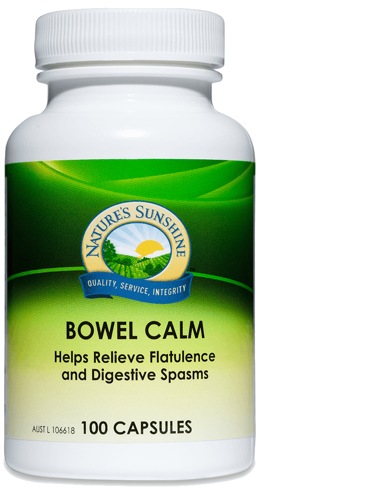 bottle of Nature's Sunshine Bowel Calm