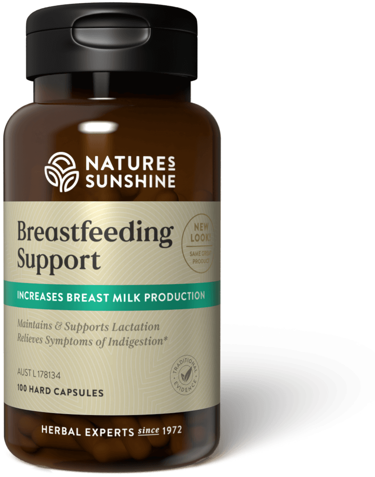 bottle of Nature's Sunshine Breast Feeding SUpport