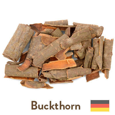 buckthorn bark sourced from Germany