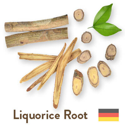 liquorice root sourced from Germany