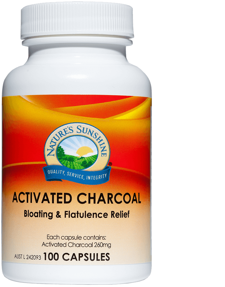 bottle of Nature's Sunshine Activated Charcoal