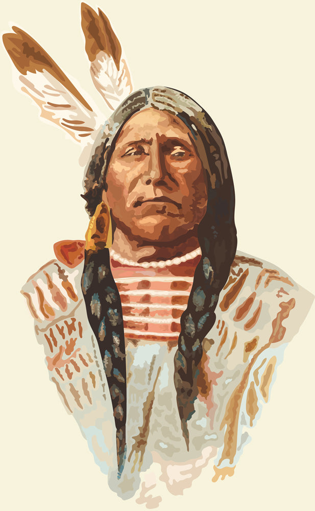 painting of native American Indian