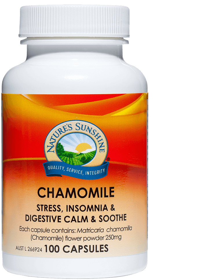 bottle of Nature's Sunshine Chamomile