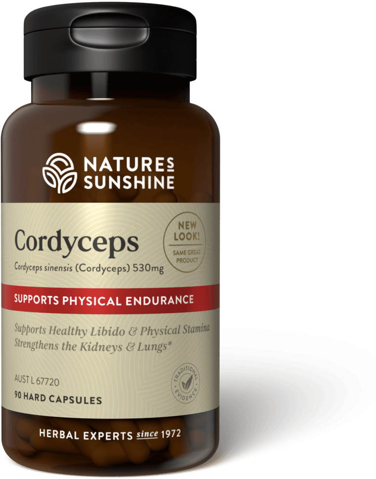 bottle of Nature's Sunshine Cordyceps