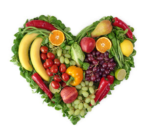 vegetable and fruit heart