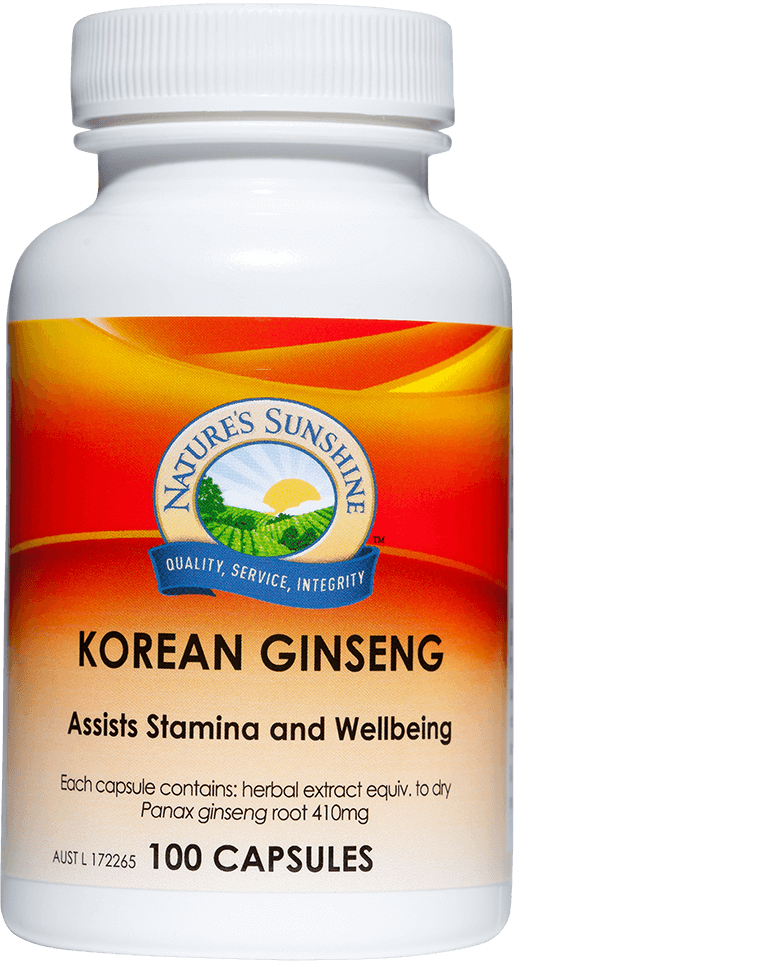 bottle of Nature's Sunshine Korean Ginseng
