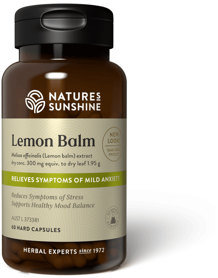 bottle of Nature's Sunshine Lemon Balm