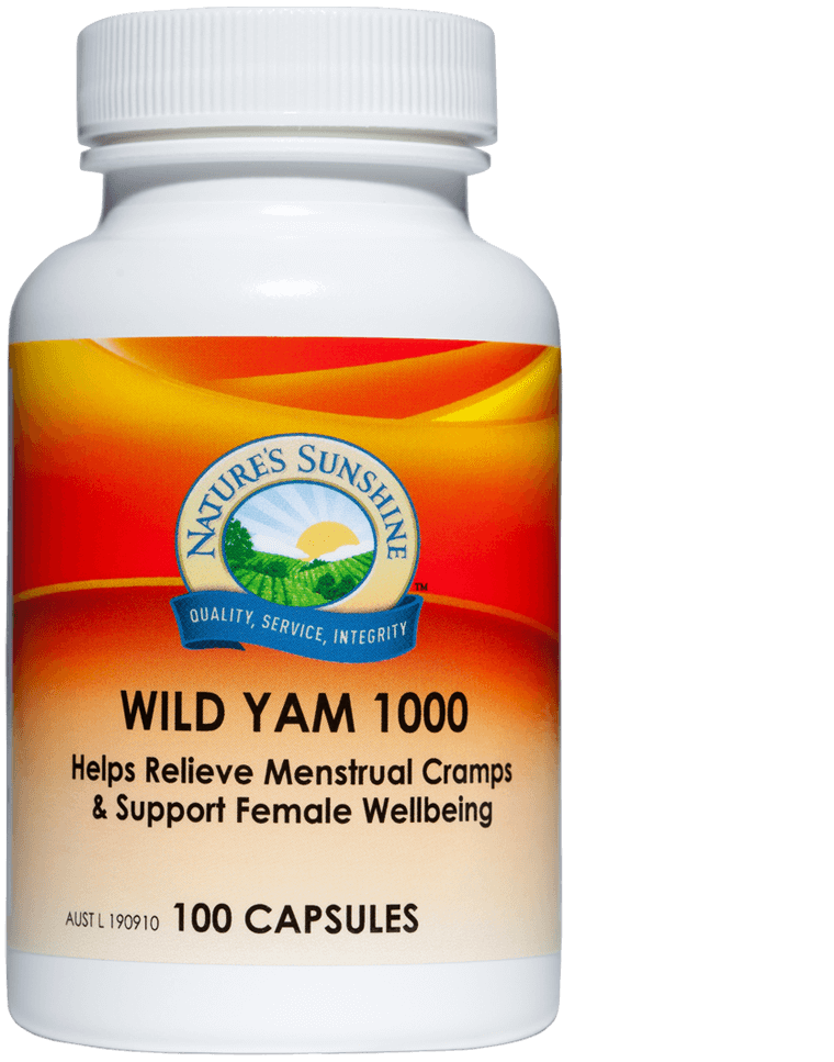 bottle of Nature's Sunshine Wild Yam
