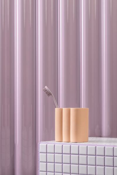 billow tumbler in blush peach