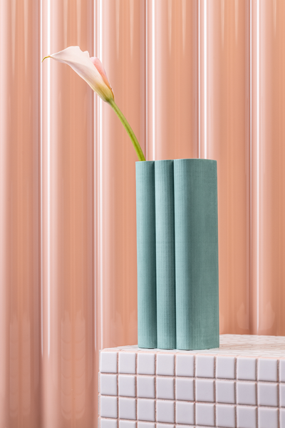 billow vase in light petrol
