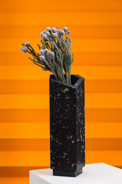 vase high - violet/green/orange