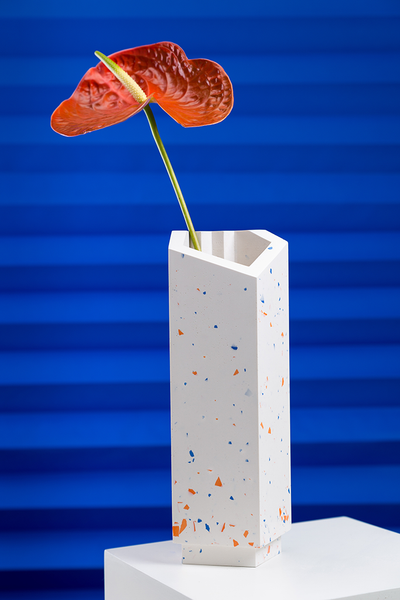 vase high - orange/blue