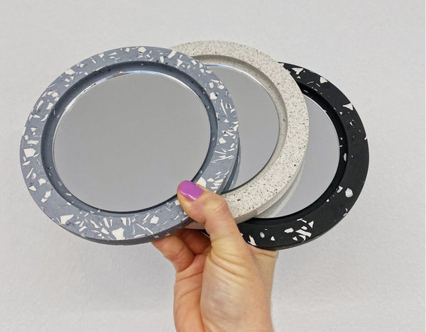 WALL MIRROR / TRAY KIT - Marble effect