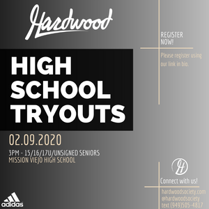 2020 High School Tryouts!