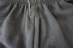 3/4 Length Sweat Shorts w/ Zipper & Headphone Access