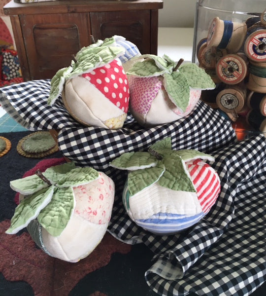 Pin Cushions made from vintage quilts