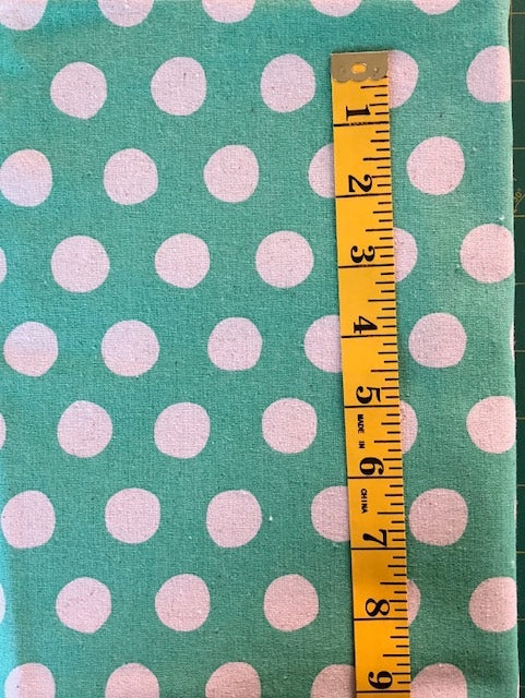 Fabric - Spot - Large Scale - Natural Spot with Soft Green Background