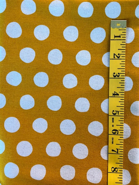 Fabric - Spot - Large Scale - Natural Spot with Gold Background