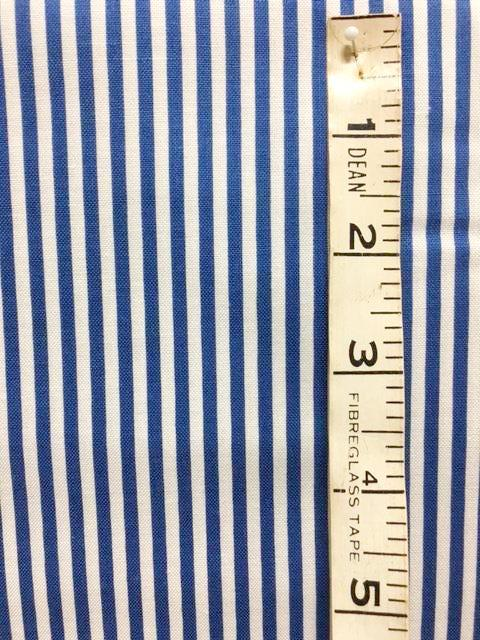 Fabric - Stripe - Royal Blue & White