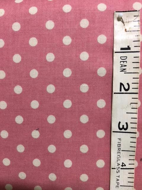 Fabric - Spot - Medium Scale Yuwa with Dark Pink Background
