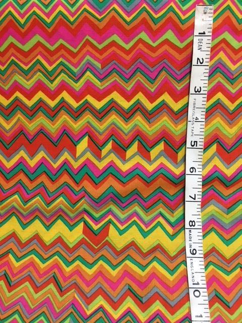Fabric - Kaffe Collection - Multi coloured zigzag
