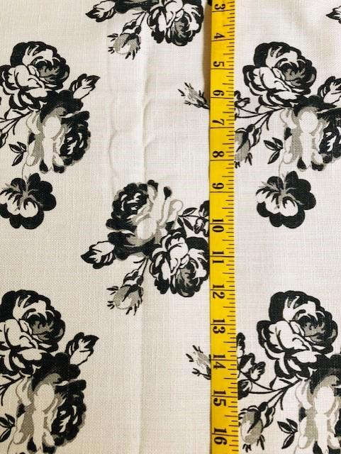 Fabric - Floral - Roses on Cream/Ecru  Background