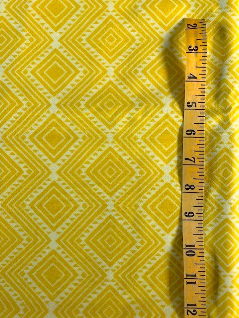 Fabric - Geometric - Two Tone Yellow Diamonds
