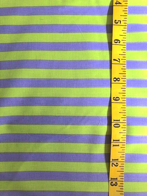 Fabric - Stripe - Medium Scale -  Mauve & Lime  - Tula Pink Allstars