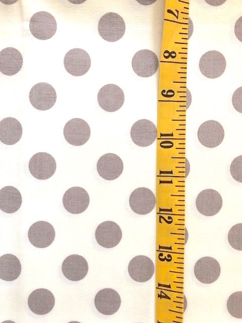 Fabric - Spot - Medium scale Grey/Taupe on Off White Background