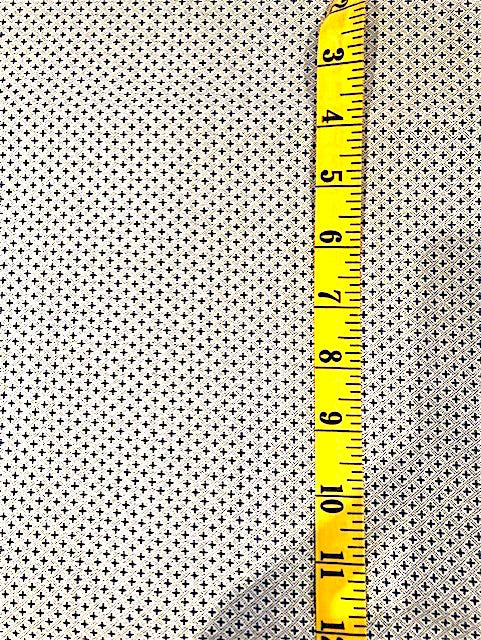 Fabric - Shirting - Small Scale Blue Crosses with Micro Dot Cross Hatch