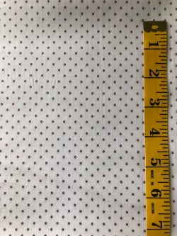 Fabric - Spot - Small Scale Beige on Off White Background