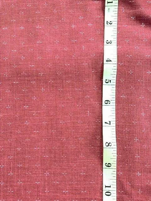 Fabric - Japanese Red Linen look with faint white cross
