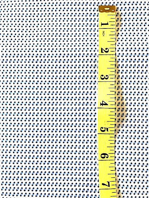 Fabric - Shirting - Small Scale Two Tone Blues on White Background