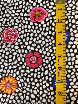 Fabric - Kaffe Collection - Guinea Flower - Brown Background