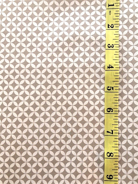 Fabric - Geometric - Taupe & Off White