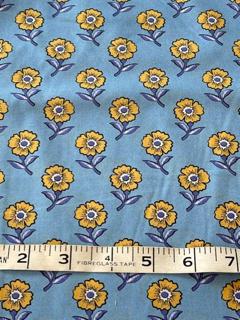 Fabric - Dargate Collection - Small Scale Yellow Vine