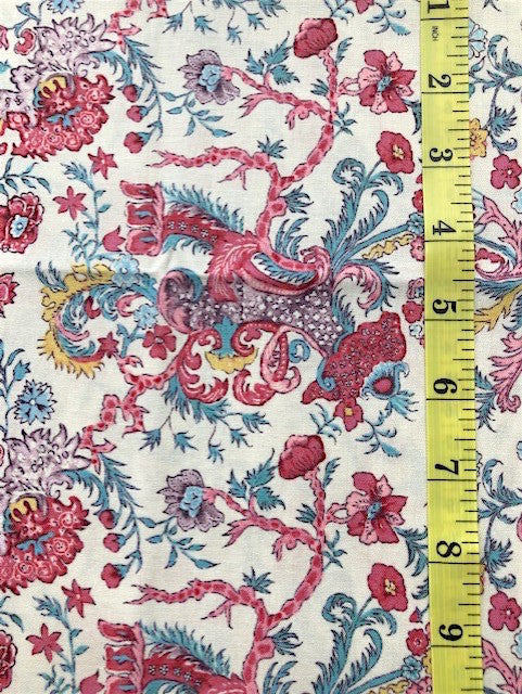 Fabric - Dutch Heritage Collection - Multi Coloured Floral on Vanilla Background