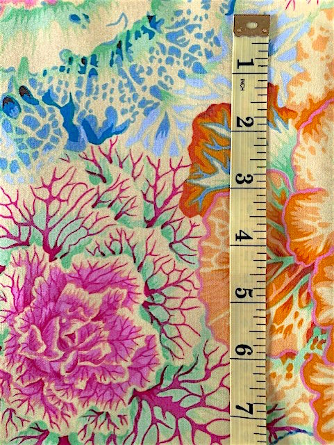 Fabric - Kaffe Collection - Large scale Botanical - cabbages - Yellow Colourway