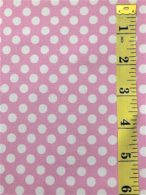 Fabric - Spots - Medium Scale White on Musk Pink Background