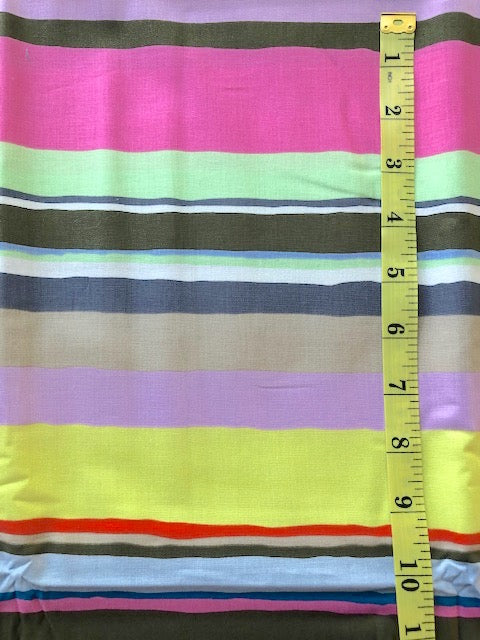 Fabric - Kaffe Collection - Multi Coloured irregular stripe