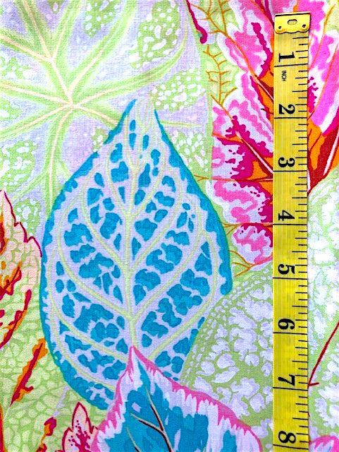 Fabric - Kaffe Collection - Large scale leaves - Soft Colouway